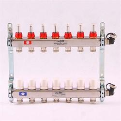 Коллектор для теплого пола Uni-Fitt, нерж. сталь, 7 вых - фото 33675