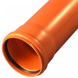 Труба для наружной канализации Агригазполимер ГОСТ SN4 ф200x4.9х1 м - фото 62122