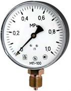 Манометр радиальный ЗТП Минск, размер М 20х1.5, ф 100 мм, 0-16 бар