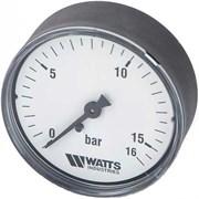 """Манометр аксиальный Watts, размер 1/4"""", ф 63 мм, 0-16 бар"""