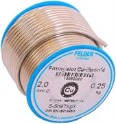 Мягкий припой Felder Cu-Rotin®4, S-Sn97Ag3, ф 2 мм, 250 гр