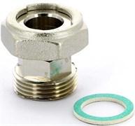 """Соединение с накидной гайкой Uni-Fitt 1"""" НВ, с обратным клапаном, плоской прокладкой, никелированное"""