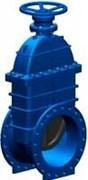 Задвижка чугунная аналог МЗВГ VOC4241 Ду 500 Ру16 110°C Tecofi, с редуктором