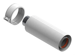 Труба коаксиальная Stout DN60/100, L=250 мм,уплотнения и хомут в комплекте