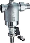 """Фильтр для воды FAR хромированный 300мкм с манометром 1/2"""" НР-ВР (FA 3946 12)"""