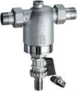 """Фильтр для воды FAR хромированный 300мкм с манометром 1"""" НР-НР (FA 3944 1)"""