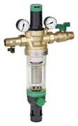 """Фильтр для воды Honeywell промывной (холодная вода) с регулятором давления и манометрами HS10S-2""""AA"""