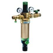 """Фильтр для воды Honeywell промывной (горячая вода) с регулятором давления и манометрами HS10S-3/4""""AAM"""