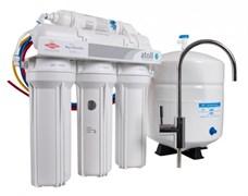 Система очитки воды ATOLL 5-х ступенчатая с обратным осмосом и баком (A-560E lux)