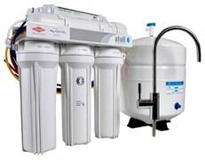 Система очитки воды ATOLL 5-х ступенчатая с обратным осмосом, баком и насосом (A-575Ecp)