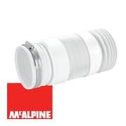 Гофра для унитаза McALPINE с металлическим хомутом, вход 97-107, выход 110мм, длина 330-760мм (WC-F33RJ)
