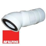 Гофра для унитаза под углом 45° McALPINE, длина 315-440мм (WC-F16R)