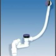Сифон для ванны автомат пластиковый тип кнопка с коленом McALPINE ф40-50 (MRB8CB)