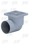 Трап пластиковый угловой Ани Пласт ф110-15х15 (TA1110)
