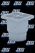 Трап пластиковый прямой Ани Пласт ф110-15х15 (TA1210)