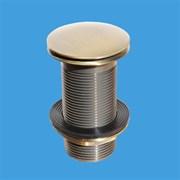 """Донный клапан для раковины нажимной McALPINE бронзовый 1 1/4"""" (CWU60-AB)"""