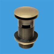 """Донный клапан для раковины с переливом нажимной McALPINE бронзовый 1 1/4"""" (CW60-AB)"""