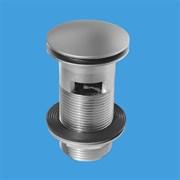 """Донный клапан для раковины с переливом нажимной McALPINE, цвет-хром сатиновый 1 1/4"""" (CW60-SC)"""