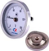 Термометр биметаллический Росма ф 63 мм, t 150°, накладной с пружиной