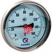 Термометр биметаллический Росма БТ-51, ф 100 мм, t 160°