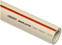 Труба полипропиленовая WAVIN EKOPLASTIK Fiber Basalt Plus S (базальтовое волокно) 125x14.0