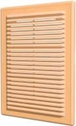 Решетка вентиляционная разъемная с сеткой 208х208, бежевая