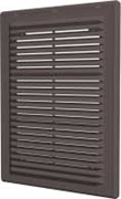 Решетка вентиляционная разъемная с сеткой 208х208, коричневая