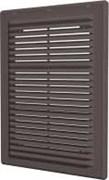 Решетка вентиляционная разъемная с сеткой 249х249, коричневая