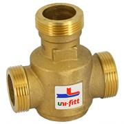 """Клапан термостатический трехходовой Uni-Fitt 1 1/4"""" Нр, Kvs 9, для напольных котлов"""