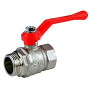 Кран шаровый Галлоп Стандарт 221 никель Ду 25 ВР/НР (ручка)