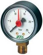 """Манометр радиальный Far с указателем предела, размер 1/4"""", ф 63 мм, 0-25 бар (FA 2500 R25)"""