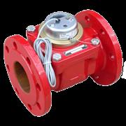 Счётчик г/в турбинный фланцевый импульсный Тепловодомер ВСТН Ду 100 Ру16 150°С L=250мм