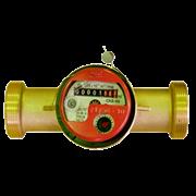 """Счётчик г/в и х/в крыльчатый резьбовой одноструйный Водоприбор СКБ 1"""" (Ду 25) Ру16 90°С L=170мм"""