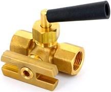"Кран для манометра трехходовой с флянцем Watts RM 15 P-MM ВР-ВР 1/2"""