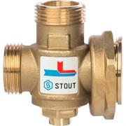 """Термостатический смесительный клапан Stout G 1"""" М-G 1 1/2""""F-G 1"""" M, 60°С"""