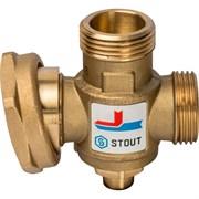 """Термостатический смесительный клапан Stout G 1"""" M-G 1 1/2"""" F-G 1"""" M, 70°С"""