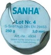 Мягкий припой Sanha, S-Sn97Ag3, ф 3 мм, 250 гр