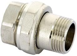 """Сгон прямой никелированный Uni-Fitt с прокладкой O-RING 1 1/4"""""""