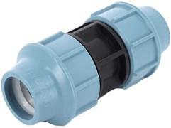 Муфта компрессионная для ПНД труб пластиковая Unidelta 20