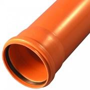 Труба для наружной канализации Агригазполимер ГОСТ SN4 ф110x3.2х1 м
