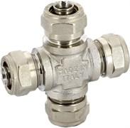 Крестовина обжимная для мeталлопластиковых труб Uni-Fitt 20