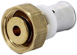 """Муфта с накидной гайкой (евроконус) пресс для мeталлопластиковых труб Uni-Fitt 16 x 3/4"""""""