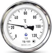 Термометр биметаллический Стеклоприбор ТБ ф 63 мм, гильза 50 мм, кл. 2.5, t 120°