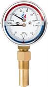 """Термоманометр радиальный Росма (ТМТБ-31P.1) 1/2"""", 1.6 МПа, 80 мм, 150°C, L=100 мм, кл. 2.5, арт.00000002337"""