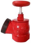 Клапан пожарный чугун угловой 125 гр Апогей КПК 65-1 Ду 65 1,6 МПа муфта-цапка