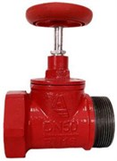 Клапан пожарный чугун прямой Апогей КПКП 65-1 Ду 65 1,6 МПа муфта-цапка