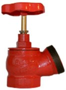 Клапан пожарный чугун угловой 125 гр Апогей КПЧ 50-1 Ду 50 1,6 МПа муфта-цапка