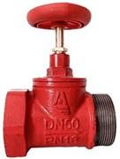 Клапан пожарный чугун прямой Апогей КПЧМ 50-1 Ду 50 1,6 МПа муфта-цапка с датчиком положения ДППК 24