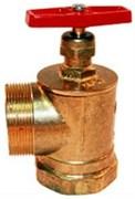 Клапан пожарный латунь угловой 90 гр Цветлит ZW80002 ПК50 Ду 50 1,6 МПа муфта-цапка