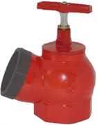 Клапан пожарный чугун угловой 125 гр Цветлит ZW80001 ПК50 Ду 50 1,6 МПа муфта-цапка